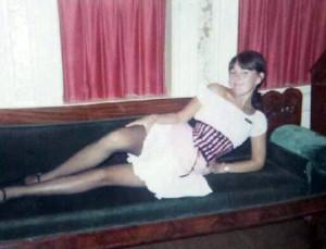 Sue (Anderson) Casebeer in her Golden Horseshoe waitress costume.
