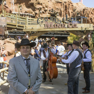Bill Reyes, an aficionado, digitally recreated the music heard in the heaven caverns room inside the Calico Mine Train Ride at Knott's Berry Farm.