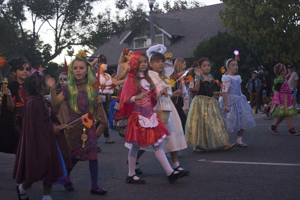 It was a parade of pretty young ladies in their Trick or Treat best for the 2014 Anaheim Halloween Parade.