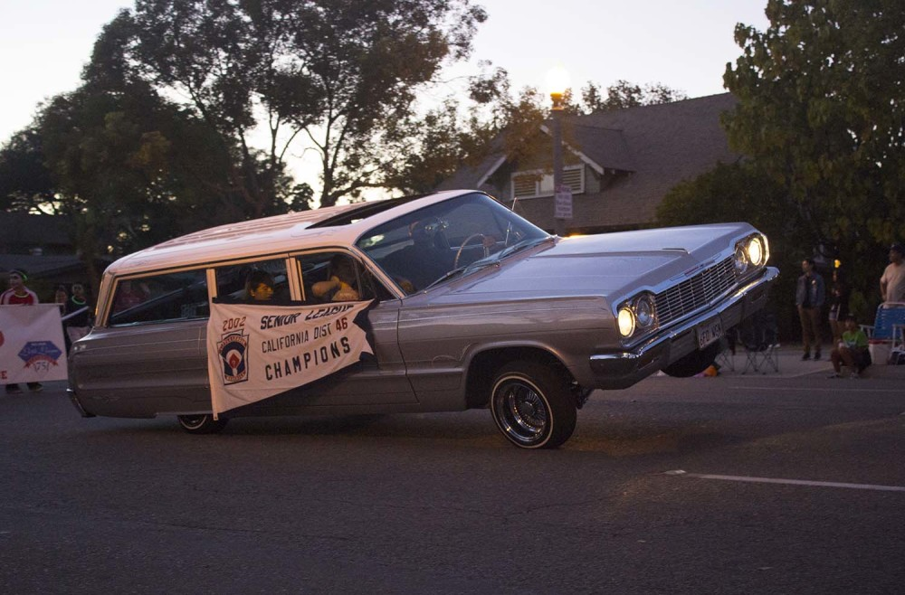 An eerie car that was under some kind of spooky control in the 2014 Anaheim Halloween Parade.