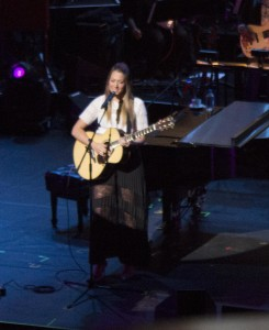 "Colbie Caillat sang ""Bubbly"" along with two of her other hit songs at the Yamaha NAMM 2015 Concert."