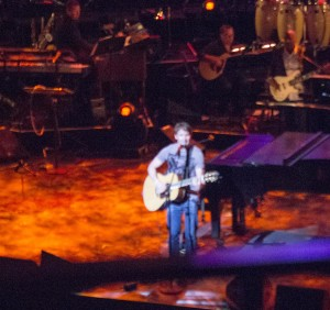 James Blunt stopped by from his overseas tour to sing some of his love songs.