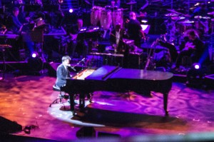 Jaimie Cullum brought his brand of exciting piano play to the Hyperion Theater Stage at Disney California Adventure for the Yamaha NAMM 2015 Concert.