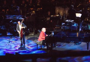 Bob James, the 75-year-old piano and Jazz Fusion legend, plays a song with Nathan East.