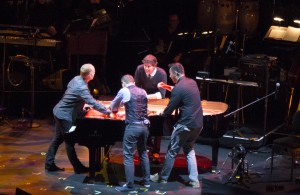The Piano Guys do their thing on a Yamaha Grand Piano. No, they did not wreck the piano.