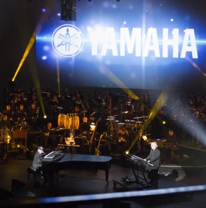 Toto on stage at the Yamaha NAMM 2015 concert